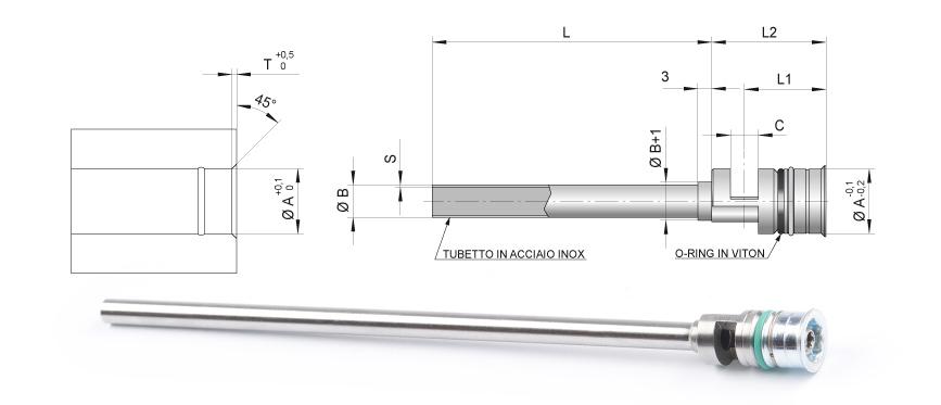 Desenho técnico da cascata serial tipo F