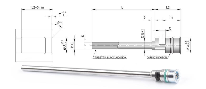 Desenho técnico da cascata serial padrão